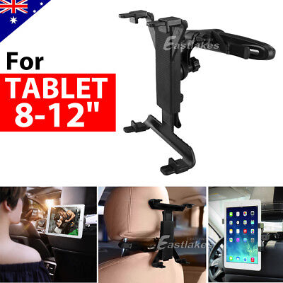 "360° Car Seat Back Headrest Mount Holder 8-12"" Tablet For iPad Mini GPS Bracket"
