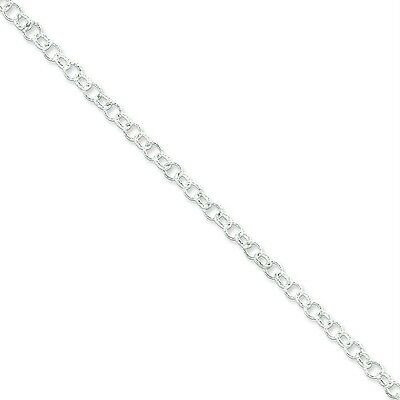 "925 Sterling Silver 16"" Fancy Rolo Chain 4.75m Necklace"