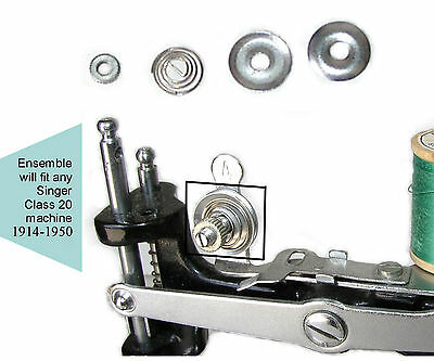 Singer 20 Toy Childs Sewing Machine Parts TENSION SPRING DISC ENSEMBLE