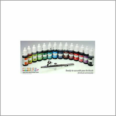 Rainbow Dust Colour Flo -Liquid Food Colouring /Air Brush Paint Colour 16ml