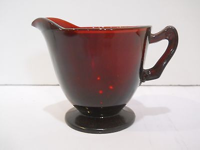 Vintage Ruby Red Creamer Pitcher Anchor Hocking