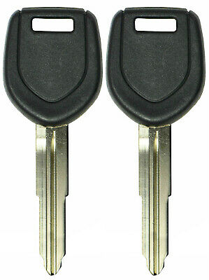 2 New Uncut Replacement Transponder Chip Ignition Door Key Blank Blade MIT17A-PT