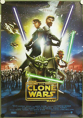 4e280 STAR WARS THE CLONE WARS orig 1sh POSTER ITALY