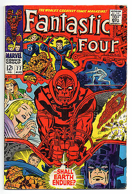 Fantastic Four Vol 1 No 77 Aug 1968 (FN to FN+) Marvel, Silver Age (1956 - 1969)