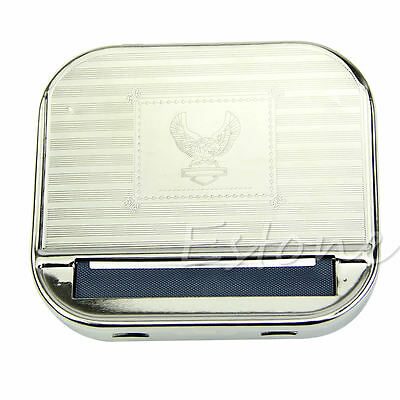 Metal Automatic Smoking Cigarette Rolling Box New Machine Case Tobacco Roller