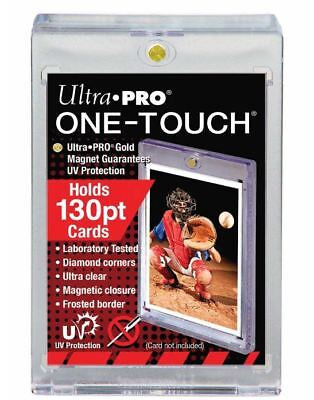 (10) Ultra Pro One Touch Magnetic Card Holders 130pt w UV Protection Thick Cards