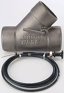 "JEGS Performance Products 30862 Cast Iron Exhaust Cutout with Cable 2-1/2"" OD"