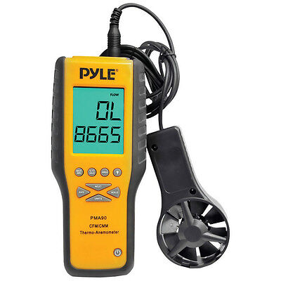 Pyle PMA90 Anemometer And Thermometer For Air Velocity Air Flow Temperature