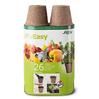 Jiffy peat - growing pots, round 6cm - 26 Pieces Cultivation
