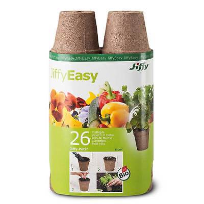Jiffy peat - growing pots, rund 6cm - 26 Pieces Cultivation