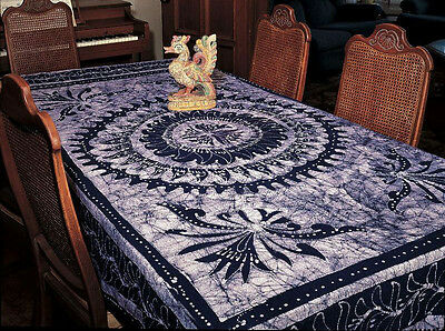 TAPESTRY Hanging CELTIC KNOT Wall Decor SPREAD Blue TIE DYE FABRIC Tablecloth