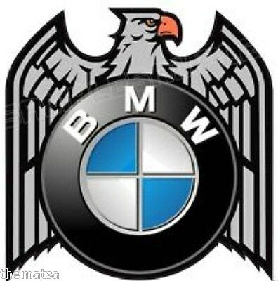 BMW MOTORCYCLE EAGLE HELMET BUMPER STICKER DECAL MADE IN USA