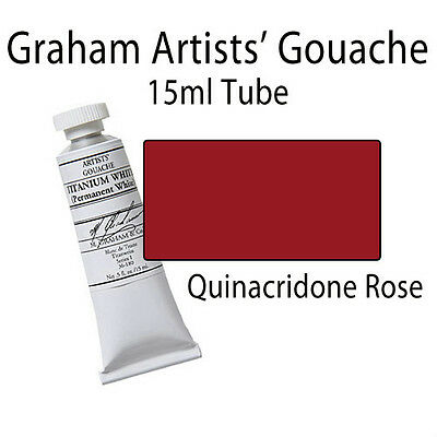 M. Graham Artists' Gouache Quinacridone Rose  15ml Tube 36-156