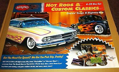 HOT RODS & CUSTOM CLASSICS Cars 1999 Retail PROMO POSTER for BOX SET  CD 24x18