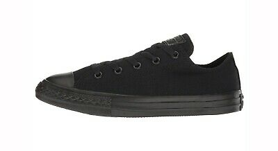 Converse Chuck Taylor All Star Low Top Canvas Kids Shoes 314786F - Black Mono