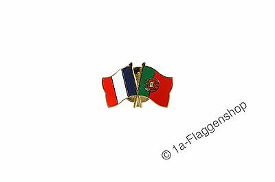France - Portugal Flags Pin Flag Pins Needle Badges