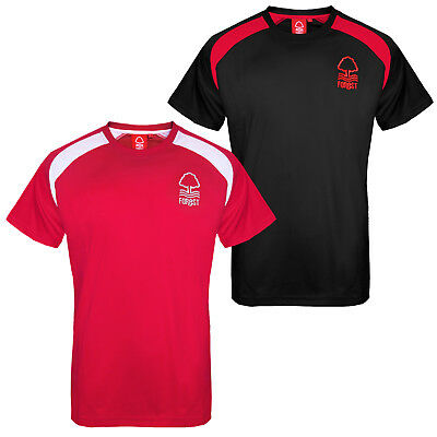 Nottingham Forest FC Official Football Gift Mens Poly Training Kit T-Shirt