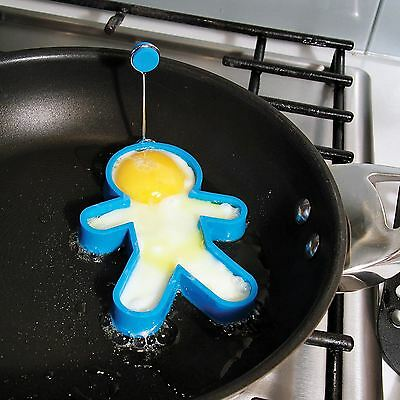 Mr Egg Head Silicone Shaped Egg Ring Novelty Fun Fry-up Utensil PP2456