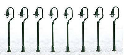 Pack of 8 Green Street Lights 3/12 Volt LED SM36 OO Gauge