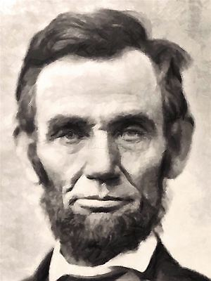 Art Print Poster Painting Portrait President Abraham Lincoln Abe Usa Nofl0112