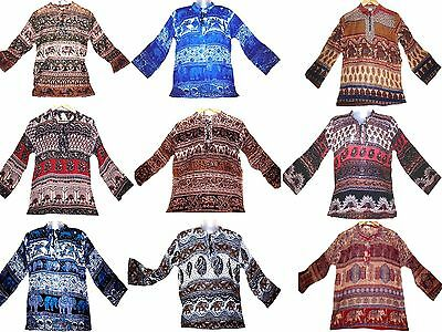 LOT 20pc@$99 HippY Gypsy Indian 100% cotton blouse Top blusa ETHNIC VINTAGE LOOK