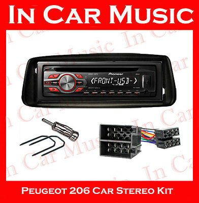 Peugeot 206 Car Stereo Fitting Kit with Pioneer CD Player MP3 USB Aux in Stereo