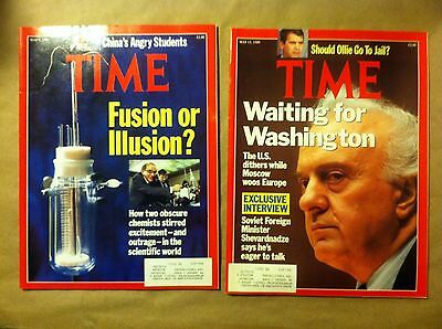 TIME MAGAZINE May 8 & 15 1989 ~ Minister Sevardnadze! Moscow! Oliver North!