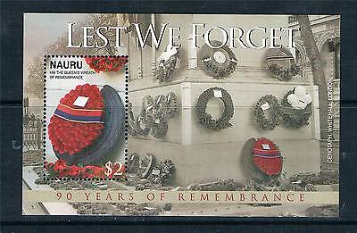 Nauru 2008 90 yrs.of Remembrance S/S NEW ISSUE MNH