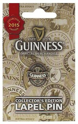 GUINNESS COLLECTORS EDITION 2015 LAPEL PIN or MONEY CLIP - OFFICIAL GIFT BADGE