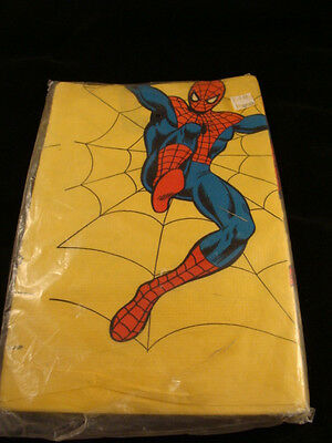 Vintage SPIDER-MAN TABLE COVER  ~ Super Hero Birthday Party Supplies