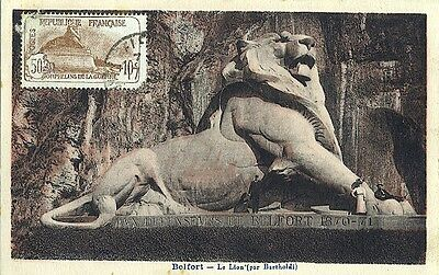 Carte-maximum France n° 230 Belfort - Le lion (25555)