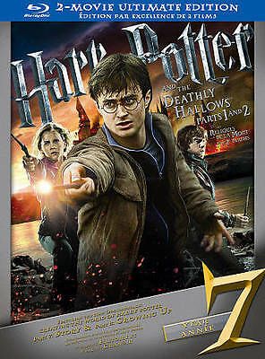 Harry Potter and the Deathly Hallows: Part 1 3D/Part 2 3D (Blu-ray Disc,...