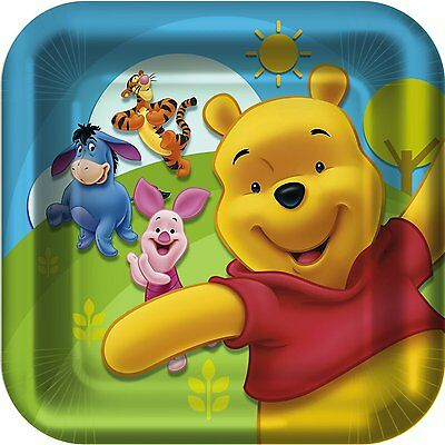 NEW 8  DISNEY WINNIE THE POOH AND FRIENDS LARGE DINNER PLATES, PARTY SUPPLIES
