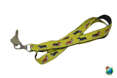 Welsh Corgi Lanyard Key Holder Badge Holder