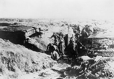 Group of German soldiers in a trench in France - 8x10 World War I Photo WWI
