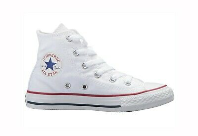 Converse Chuck Taylor All Star High Top Canvas Girls Shoes 3J253 - Optical White