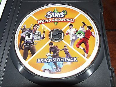 The Sims 3: world adventures (Expansion Pack)  (PC, 2010) disc only NO CODES