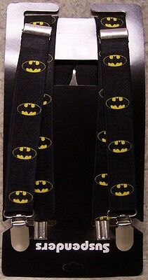 "Suspenders Children & Junior 1""x36"" FULLY Elastic Batman NEW Made in USA"
