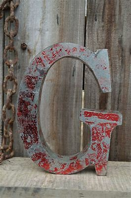 Medium Vintage Style 3D Red G Shop Sign Letter Tin Wall Art Letter Font 8 Inch