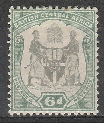 British Central Africa 1897 Arms 6D