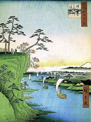 PAINTING JAPANESE WOODBLOCK RIVER MOUNTAIN ART POSTER PRINT LV2619