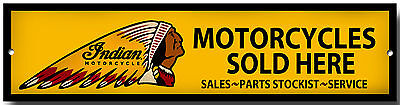 Indian Motorcycles Sold Here Metal Sign,garage Sign,workshop Sign.classic Bikes.