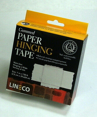 "Lineco Gummed Framing Hinging Tape 1"" x 130 ft"