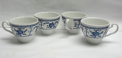 Set of FOUR (4) JOHNSON BROTHERS CHINA - INDIES BLUE - TEA CUP only