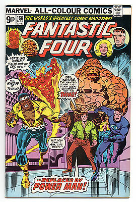 Fantastic Four Vol 1 No 168 Mar 1976 (FN+ to VFN-) Marvel Comics, Bronze Age
