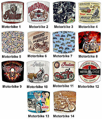 Lampshades Ideal To Match Vintage Retro Motorbikes Cushions Stickers & Decals.