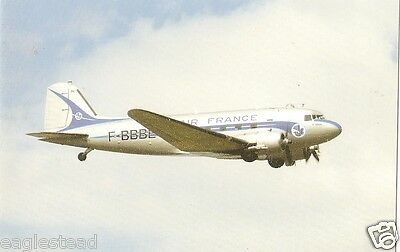 Airline Postcard - Air France - DC-3 - C-47 - F-BBBE  (P3715)