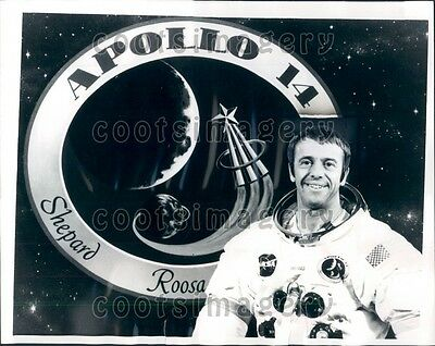 1971 Apollo 14 Commander Astronaut Alan Shepard Press Photo
