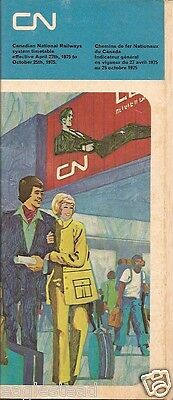 Railroad Timetable - Canadian National - CN - 27/04/75
