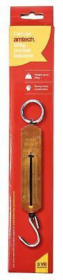 50kg Pocket Balance Spring Scale Fishing Luggage KG LBS Weigh Heavy Duty New